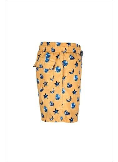 Ayyıldız Erkek Desenli Deniz Şortu 67845-21 Sarı